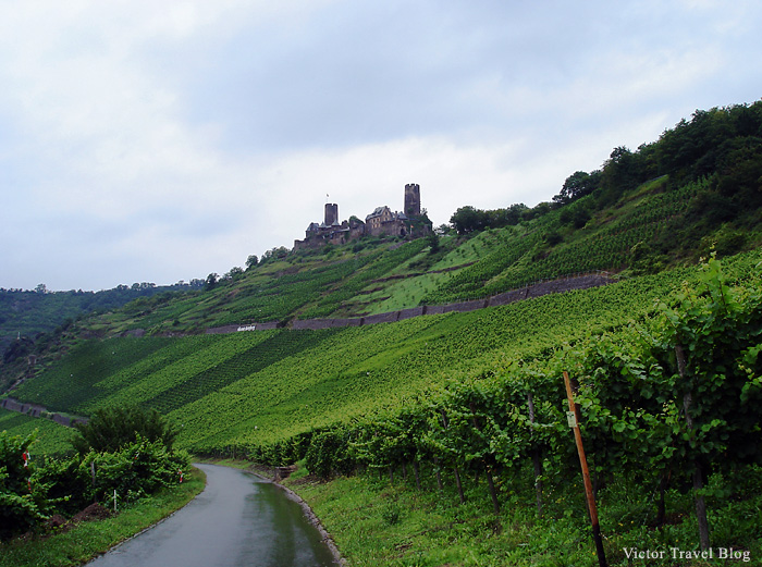 View of the castle Thurant on the Moselle River, Germany.