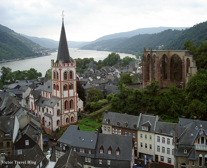 Bacharach town. Germany.
