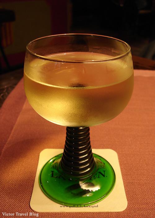 Germany white wine in Bacharach