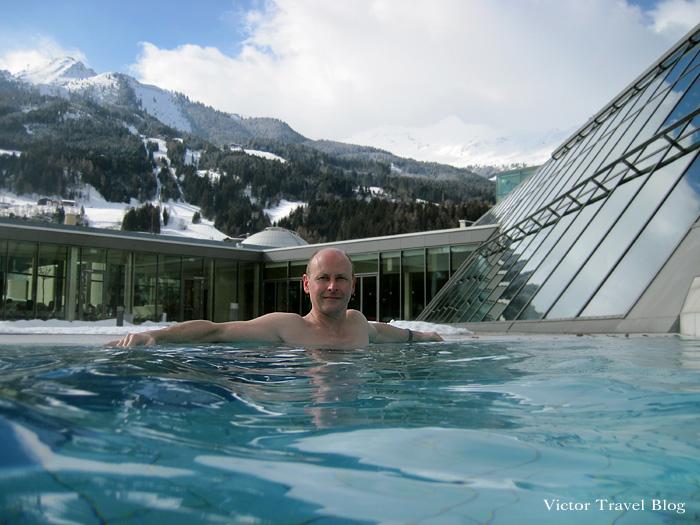 Bad Hofgastein Alpentherme Outdoor Thermal Pool