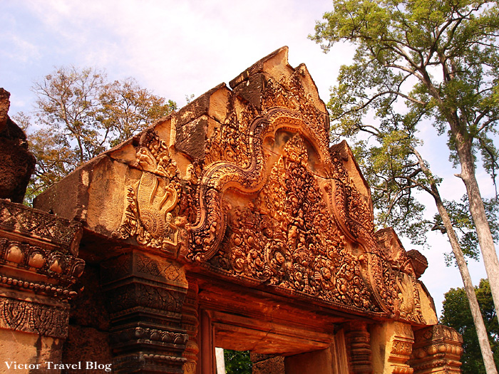 Banteay Srey, female temple in Angkor, Cambodia.
