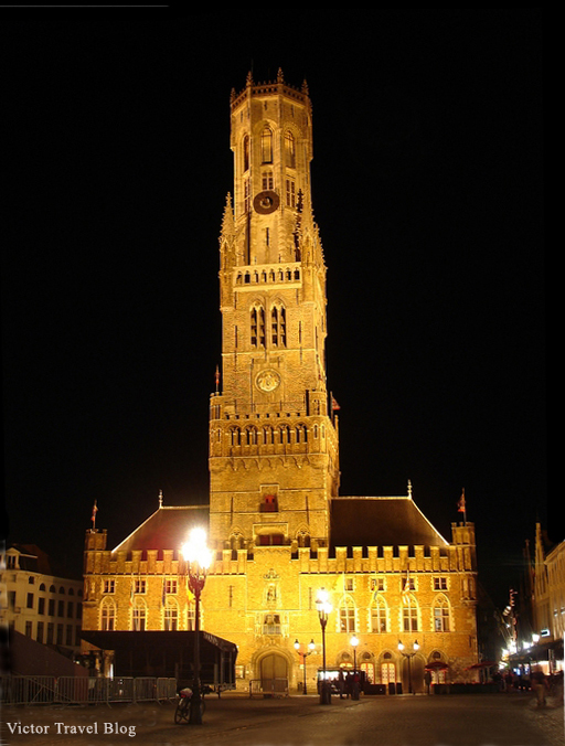 The center of Bruges