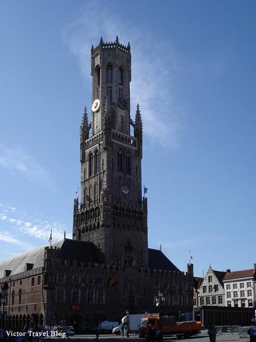 The center of Bruges