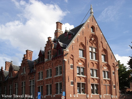 Modern building in Bruges, Belgium