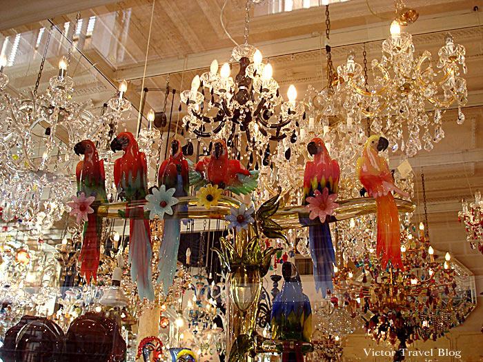 Venetian glassware. Venice, Italy.