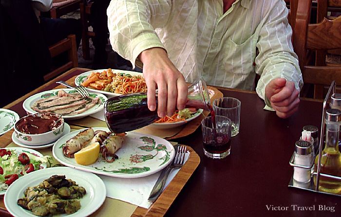 Venetian food. Venice, Italy.