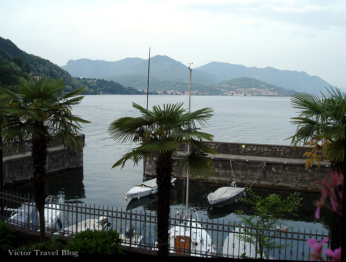The restaurant of Camin Hotel Colmegna, Lake Maggiore, Italy.