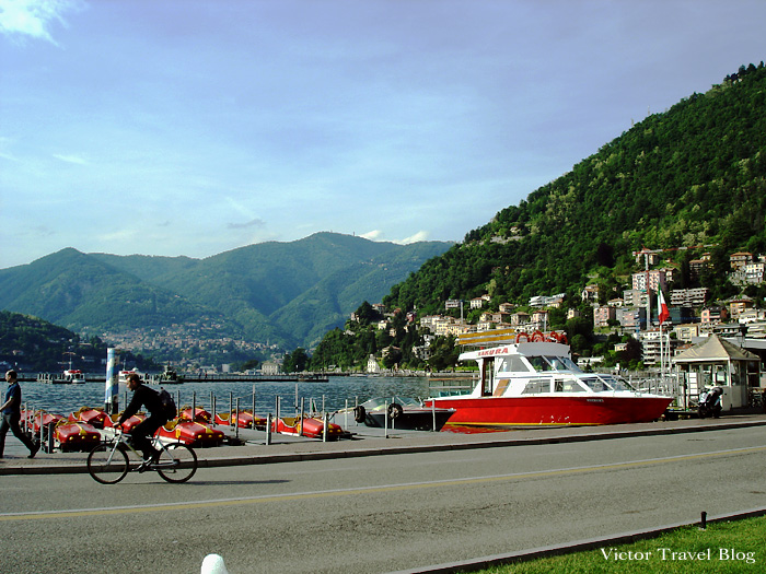 The lake of Como in Italy.