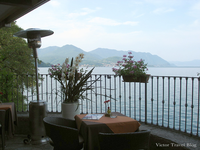 View of Lake Maggiore, Italy.