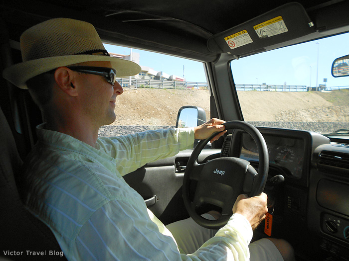 Jeep Wrangler soft top - we are on the road