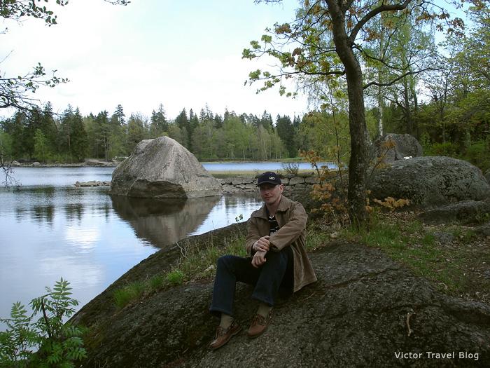 Park Monrepo. Viborg city, Russia.