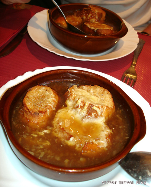 Onion soup. Carcassonne, France.