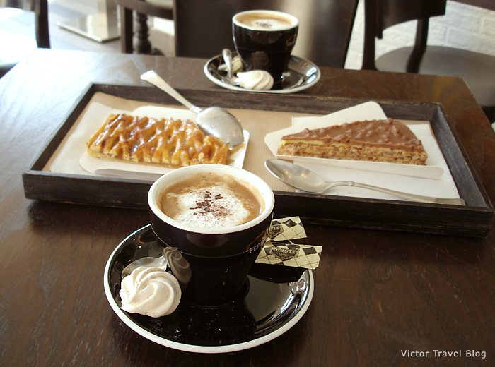 Something like cappuccino and desserts in Provence.