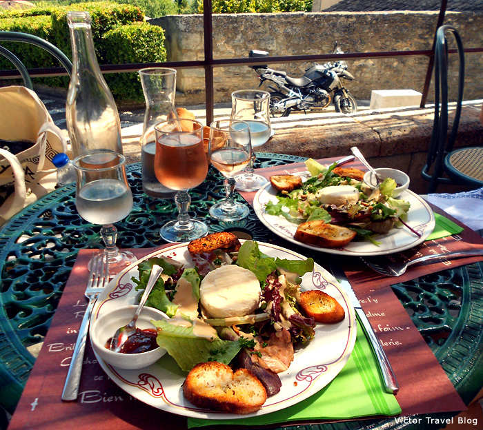 Salad with goat cheese. Provence, France.