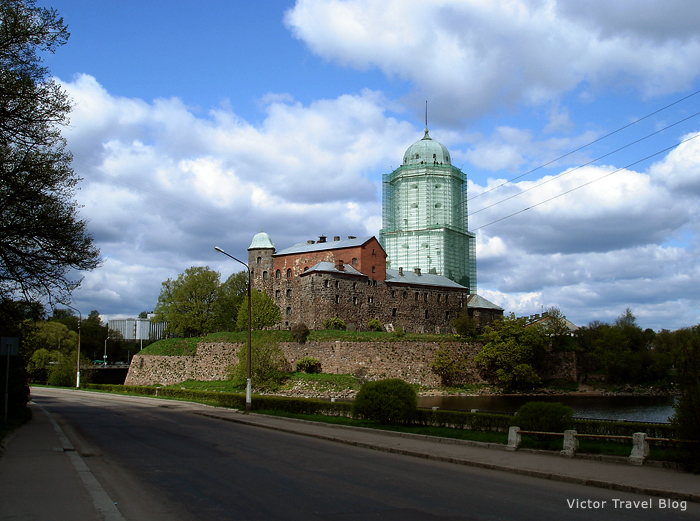 The castle of Viborg in Russia.