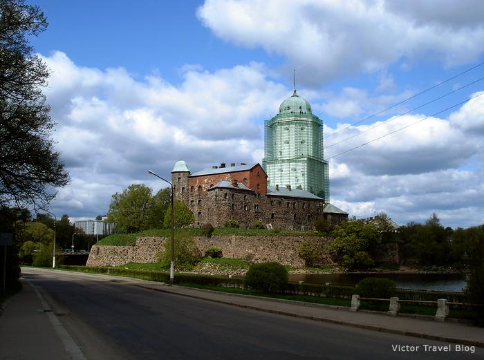 The castle of Viborg in Russia.