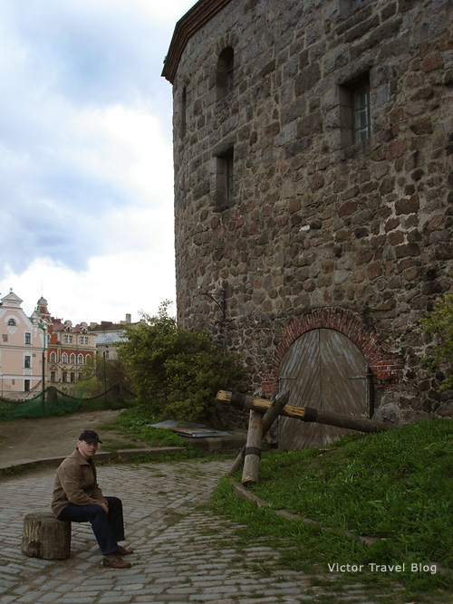 Inside of the Russian castle of Viborg.
