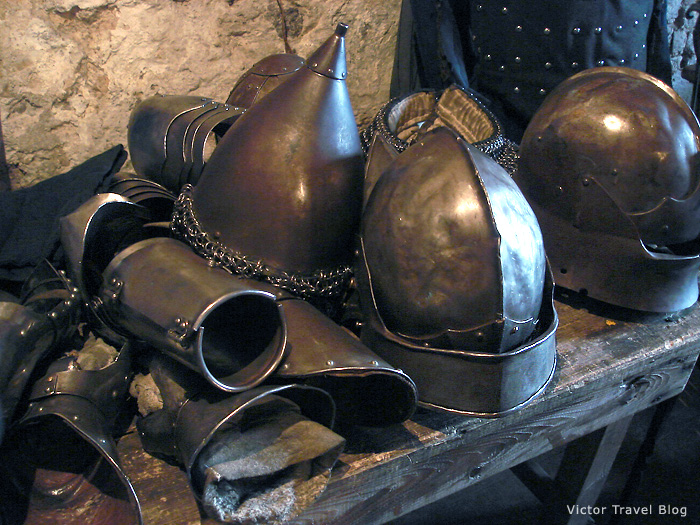The medieval armor in the Russian castle of Viborg.