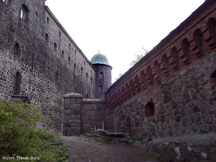 The walls of the Russian castle of Viborg.