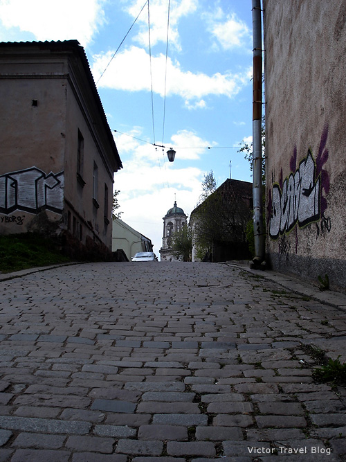 The old street of Viborg. Russia.