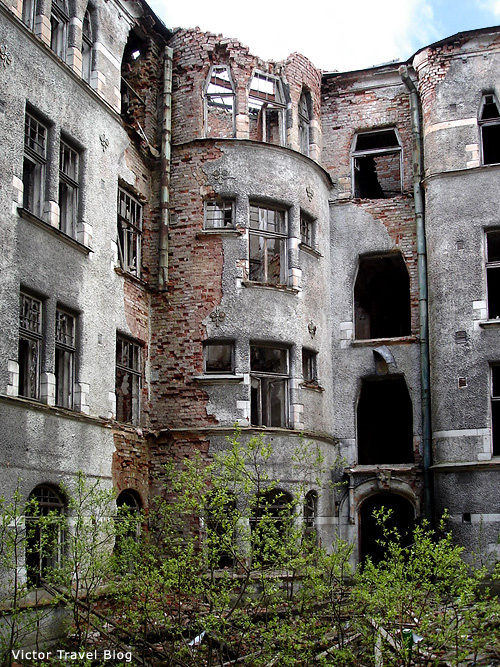 The old house of Viborg. Russia.