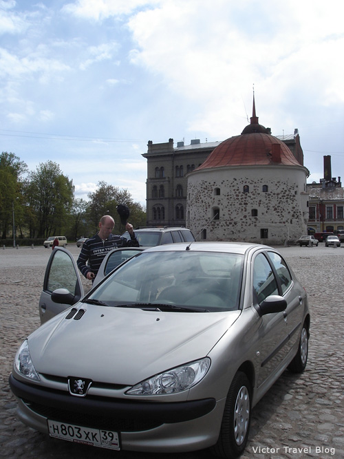 On the main square of Viborg. Russia.