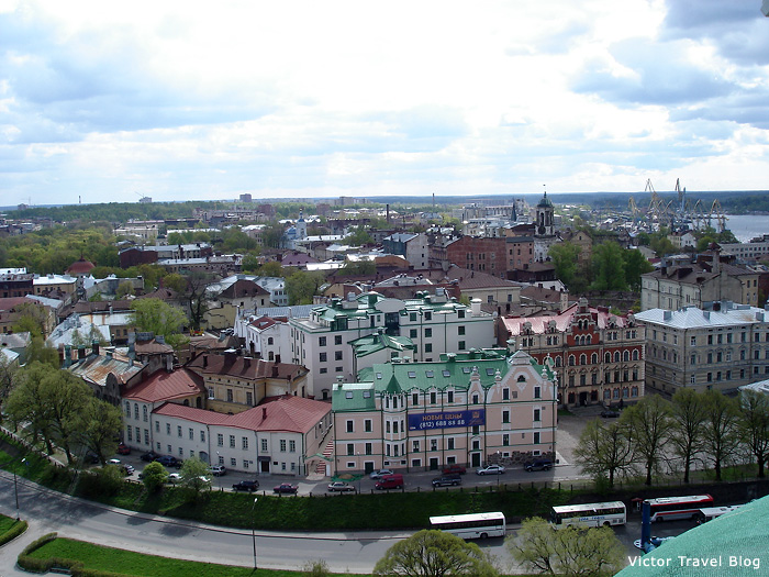 Panorama of Viborg. Russia.