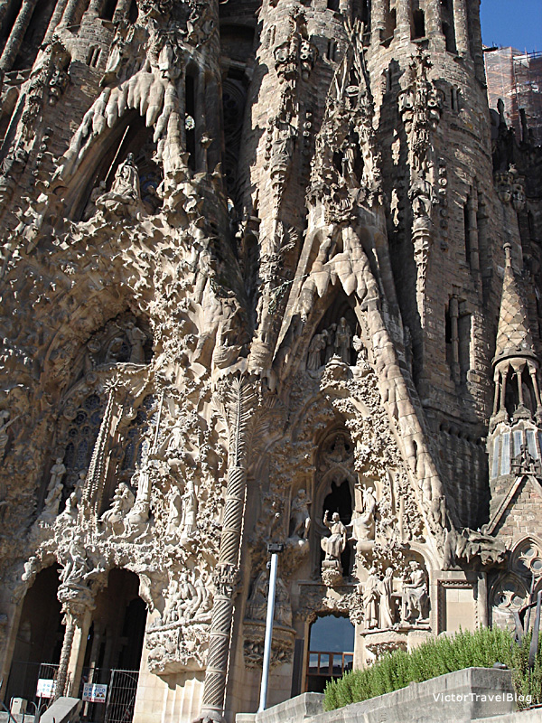 Sagrada Familia by Antoni Gaudi, Barcelona, Catalonia.
