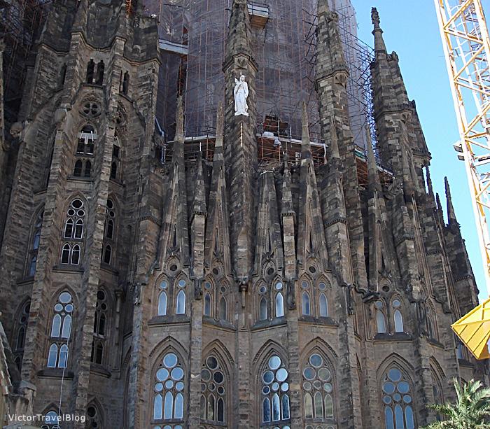 Sagrada Familia by Antoni Gaudi, Barcelona, Spain.