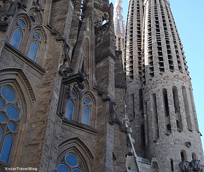 Sagrada Familia by Antonio Gaudi, Barcelona, Spain