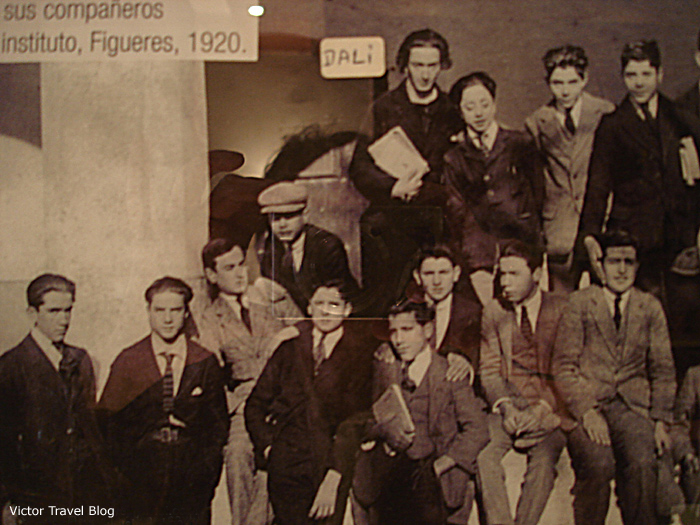 A school photograph in the Duran Hotel & Restaurant in Figueres, Catalonia, Spain.