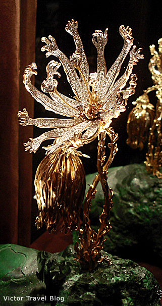 The Living Flower, Salvador Dali jewelry.