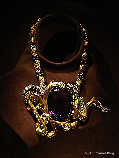 Necklace. Salvador Dali jewelry. Figueres, Spain.