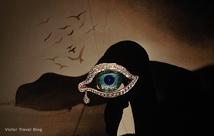 The Eye of Time Brooch. Salvador Dali jewelry.