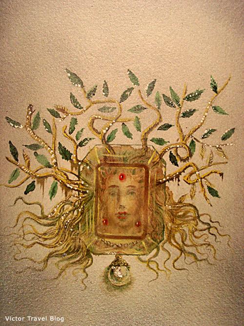 The Medusa. sketch. Salvador Dali jewelry. Figueres, Spain.