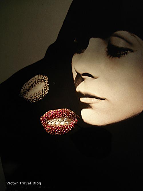 Brooch Lips, Salvador Dali jewelry. Figueres, Spain.