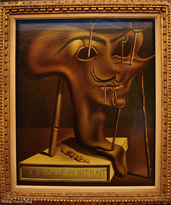 The self-portrait. The Salvador Dali Theatre-Museum in Figueres, Catalonia, Spain.