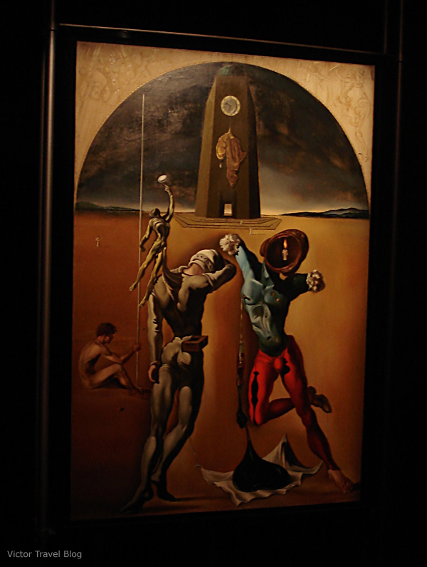 Painting in the Salvador Dali Theatre-Museum, Figueres, Catalonia, Spain.