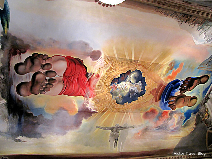 A fresco in the Salvador Dali Theatre-Museum, Figueres, Catalonia, Spain.