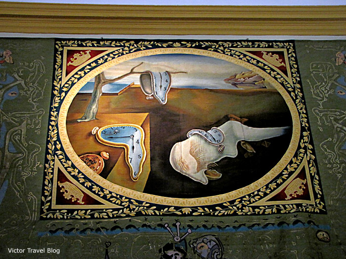 The Persistence of Memory. A copy on the carpet. The Salvador Dali Theatre-Museum in Figueres, Catalonia, Spain.