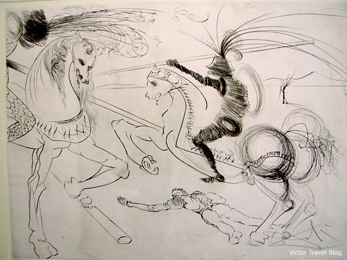 A drawing by Dali. The Salvador Dali Theatre-Museum in Figueres, Catalonia, Spain.