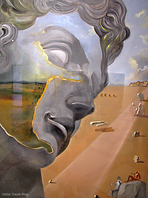 Painting in the Salvador Dali Theatre-Museum, Figueres, Catalonia.