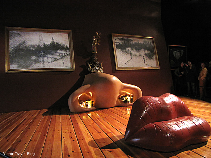 The Mae West installation in the Salvador Dali Theatre-Museum, Figueres, Catalonia, Spain.