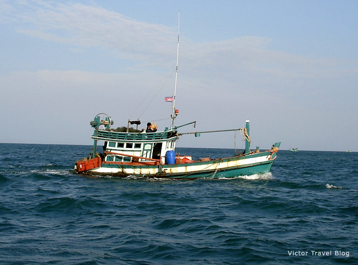 Excursion to the islands from Sihanoukville, Cambodia.