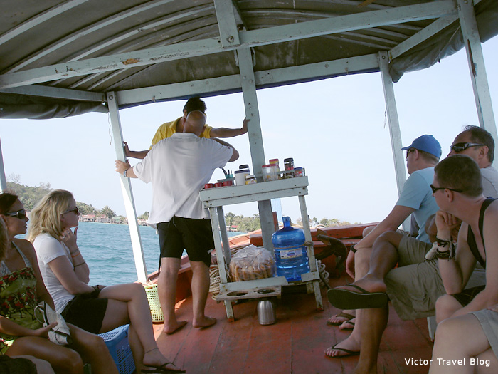 On board of the ship during excursion from Sihanoukville, Cambodia.