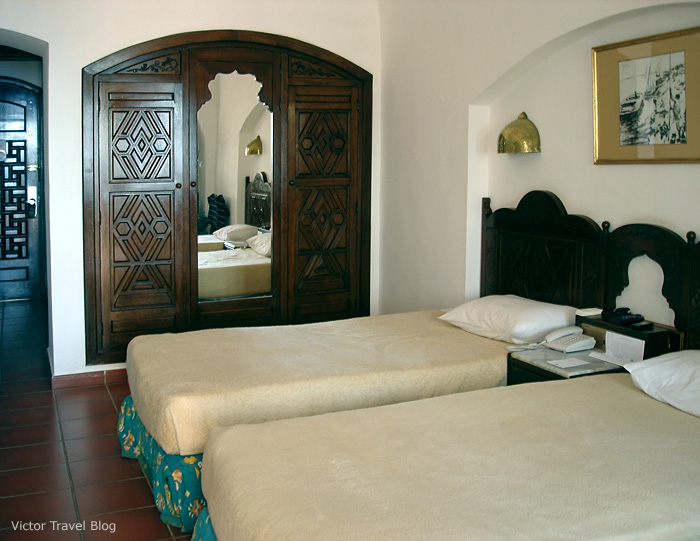 A room in Sofitel Sharm El Sheikh, Egypt.