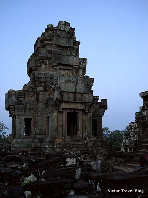 One of the towers of Ta Keo Temple in Angkor, Cambodia.