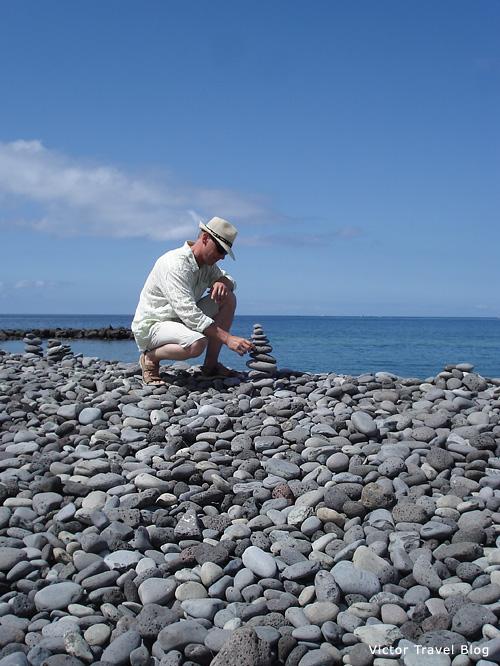 Stone beach, Adeje, Tenerife, Canary Islands.