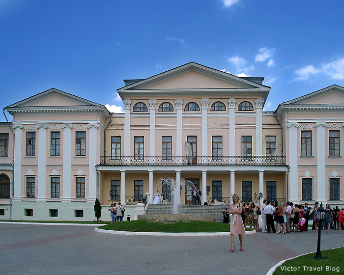 The former masters house in Dubrovitsy, Russia.