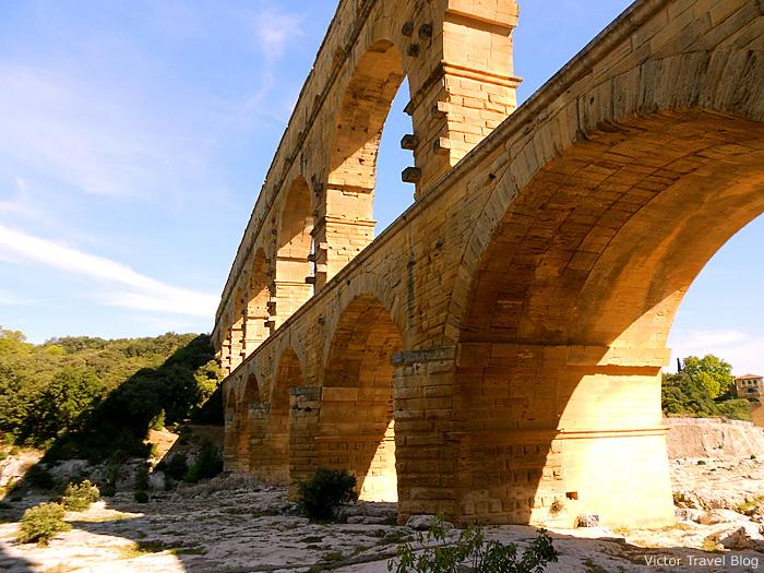Le Pont du Gard aqueduct, Nimes, France.